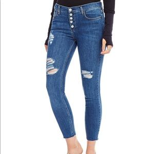 free people-reagan distressed button front jeans